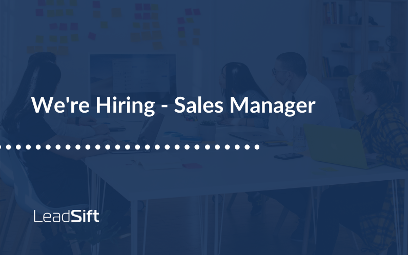 We're Hiring – Sales Manager